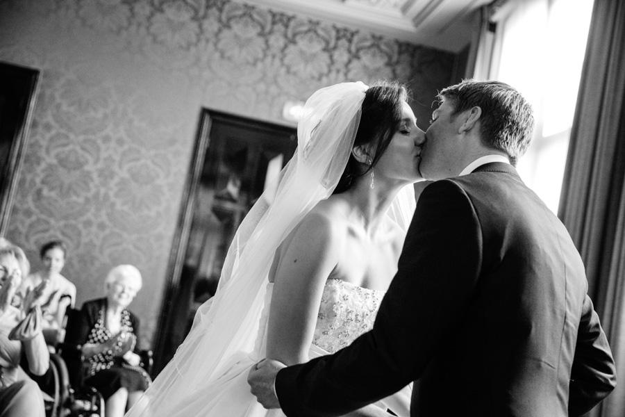 bruidsfotografie en trouwfotografie ceremonie College Hotel Amsterdam