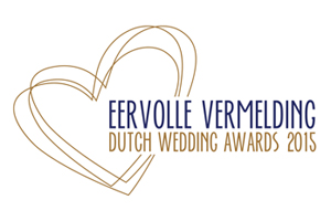 beste trouwfotograaf Nederland Dutch Wedding Awards eervolle vermelding