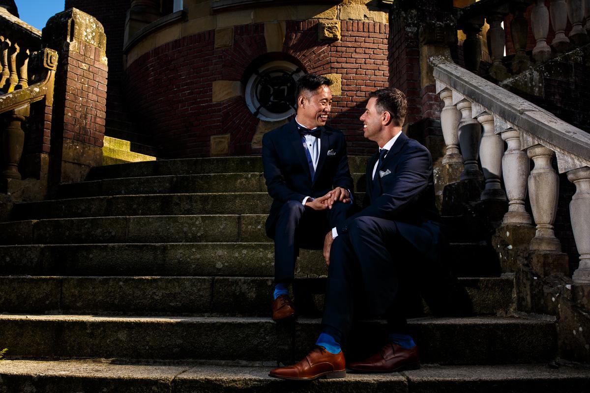 internationale bruiloft op Kasteel de Hooge Vuursche