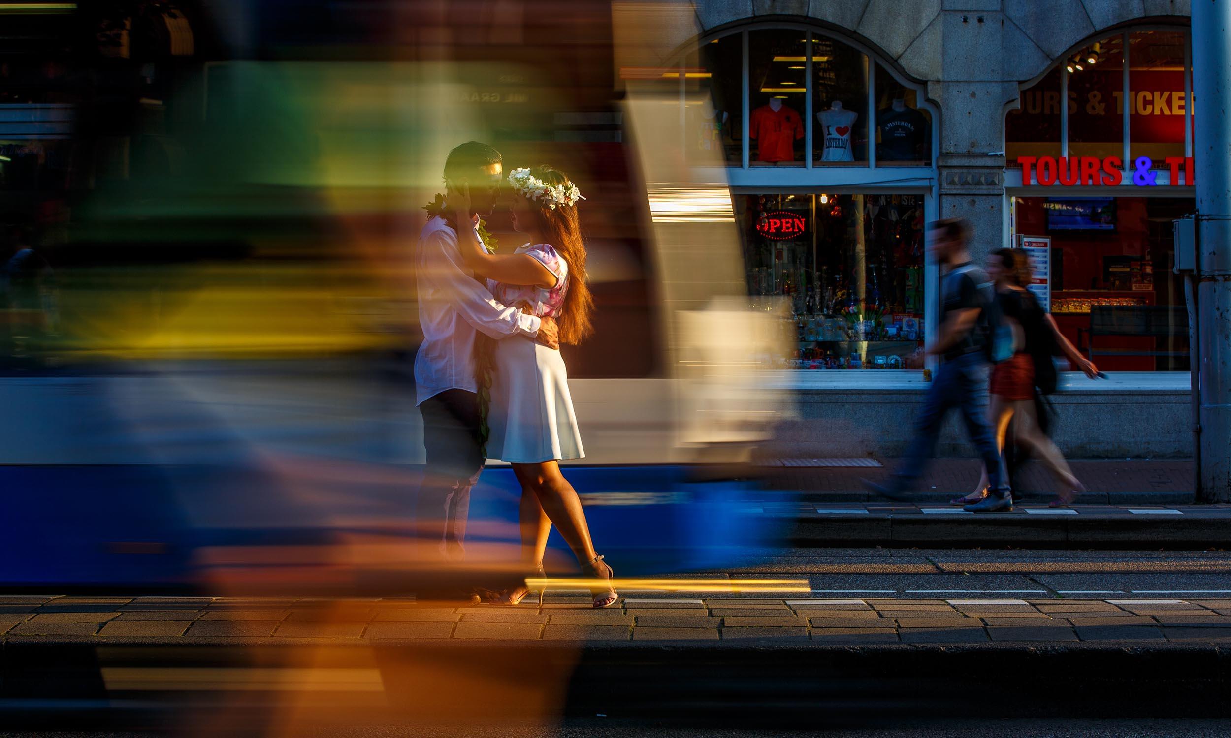 trouwfotografie straat amsterdam