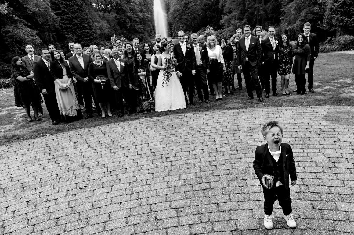 groepsfoto hooge vuursche trouwfotografie in corona tijd